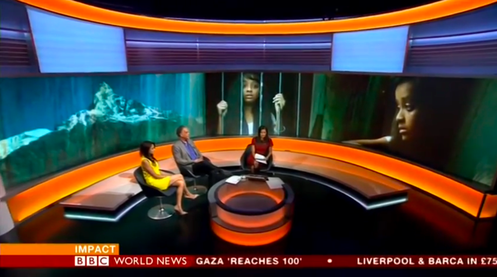 A positive BBC World News interview with SOLD director Jeffrey D Brown and actress Neerja Naik,