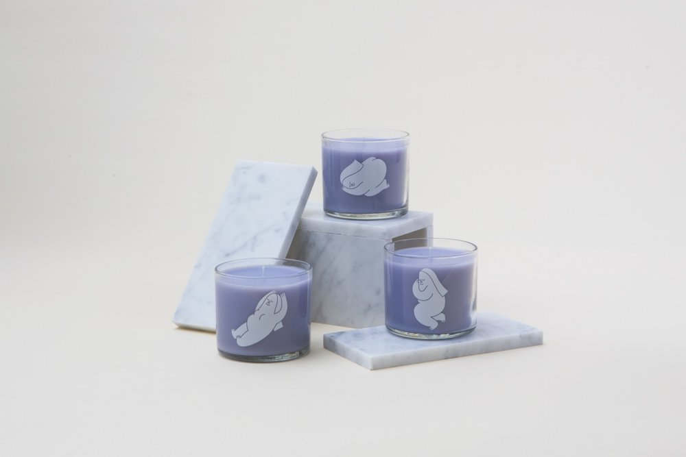 Scented candles made together with Joya Studios