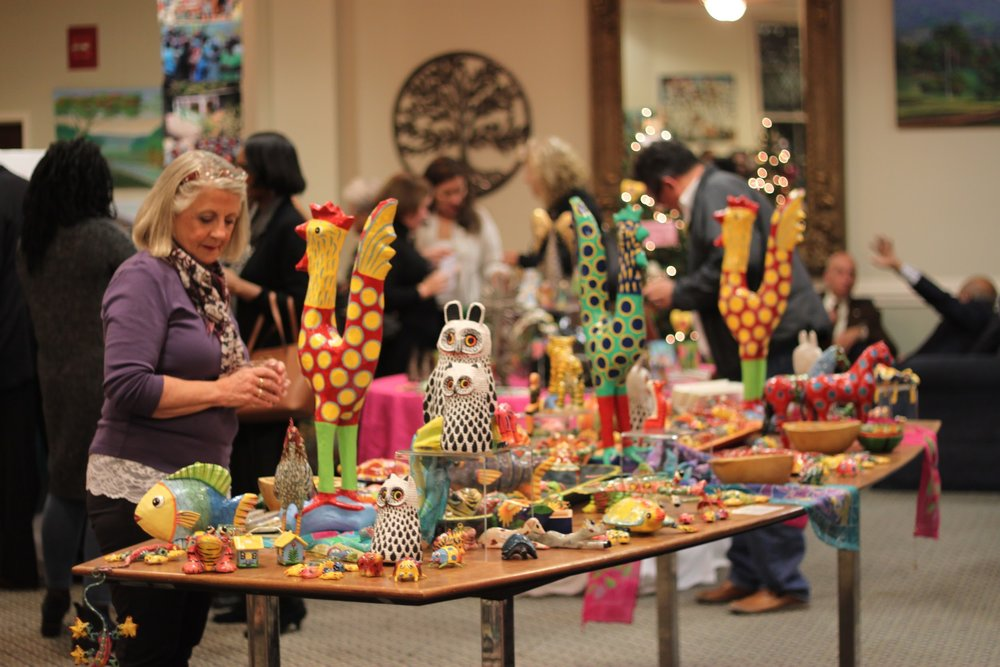 A sampling of the handcrafts available at the Vassar Haiti Project's Art Sales.