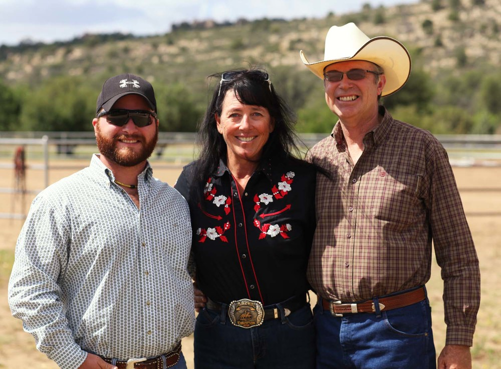 Left to right: Link Casey, Laurel Denton &  Barry Denton, Arizona 2011