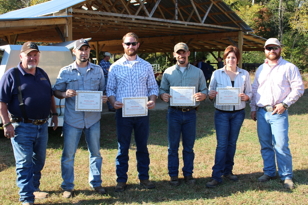 BWFA farriers upgrading their certifications, 2014