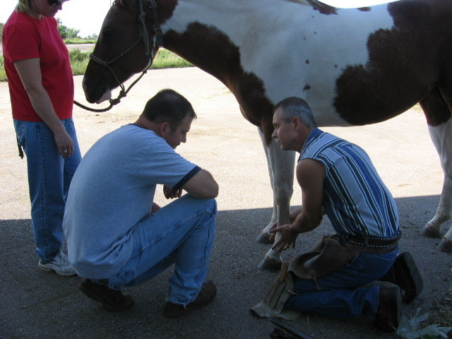 Sean McDonough (right), BWFA Master Farrier of Kansas