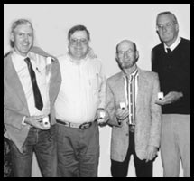 1994 BWFA Hall of Fame Inductees receiving their gold Hall of Fame Rings in Texarkana:      Burney Chapman, Bob Peacock, Reggie Kester and Danny Ward