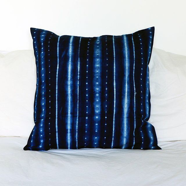 Fall Sale! Handwoven and hand-dyed in Africa, these cushion covers make the ideal throw pillow for a couch or bed. Made from 100% cotton, and with a four-button closure on the back, these pillow covers are easy to wash and incredibly versatile. Available in Dark Indigo Dye, Light Grey Dye and woven White with Thick Blue Stripes. On sale $38. Purchase at shop-btla.com. . . . #handwoven #dyed #freetrade #tensira #home #decor #homedecor #pillow #throwpillow #interior #interiordesign #blue #cushion #indigo #covers #couch #bed #beautifulthings #beautifulthingsla #btla #btlabus #shopbtla