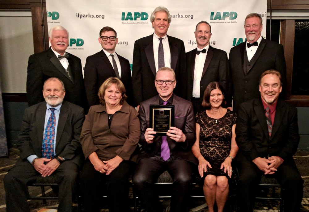 Representatives of the Deerfield Park District, Arts Alliance Illinois and the Illinois Association of Park Districts at the annual IAPD Awards Gala held on Friday, October 13th.