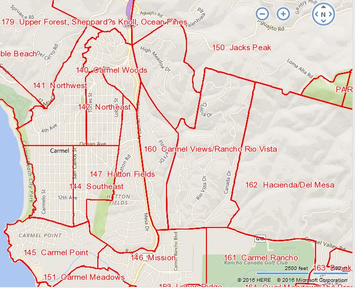 MLS areas for Carmel