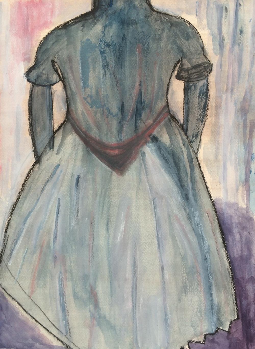 """""""Dressmaker""""  Acrylic 24x18"""
