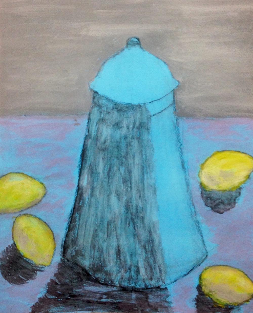 """""""Cerulean Lemon""""  Acrylic 24x18"""