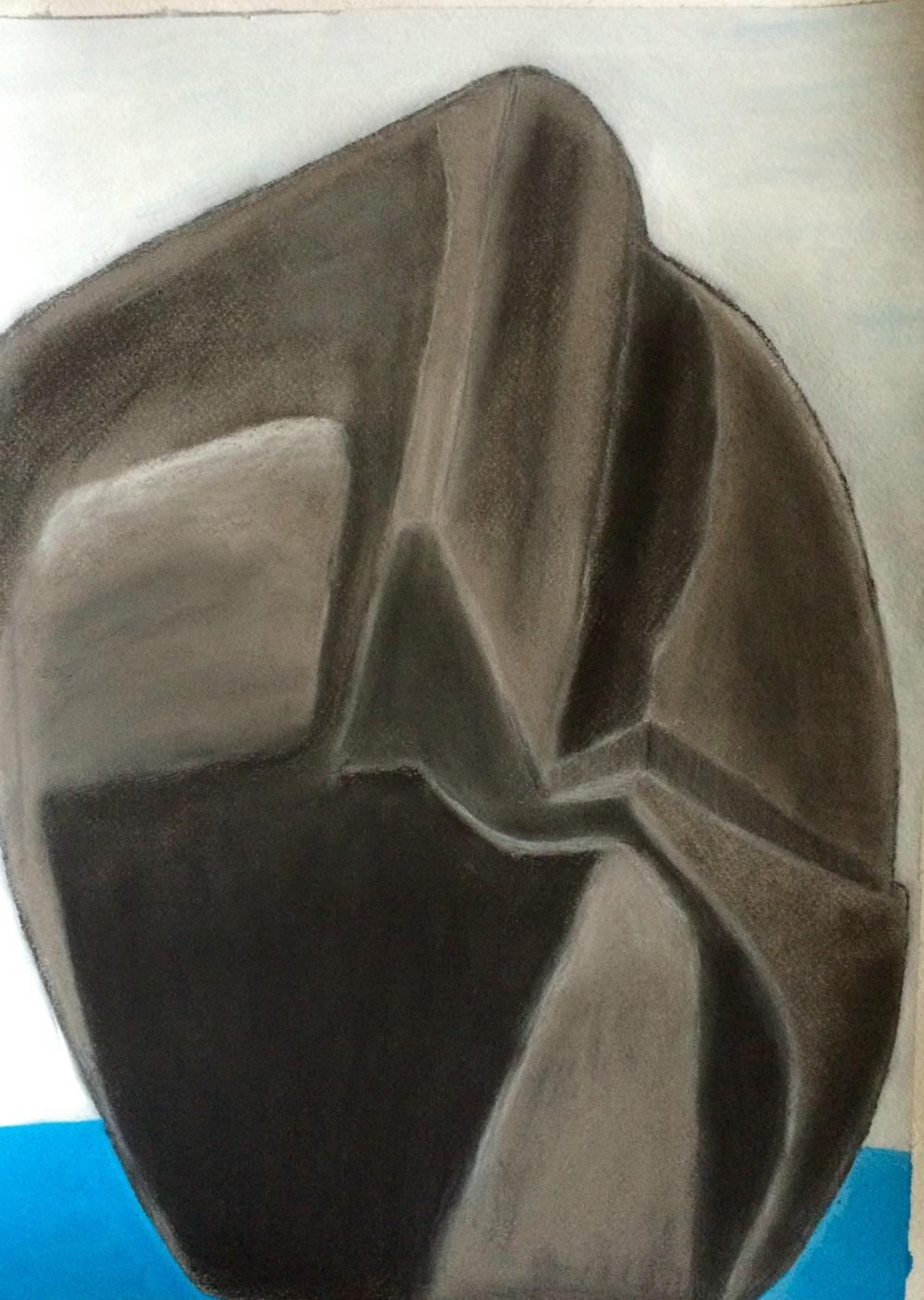 """""""Monolith""""  Charcoal & Acrylic 24x18"""