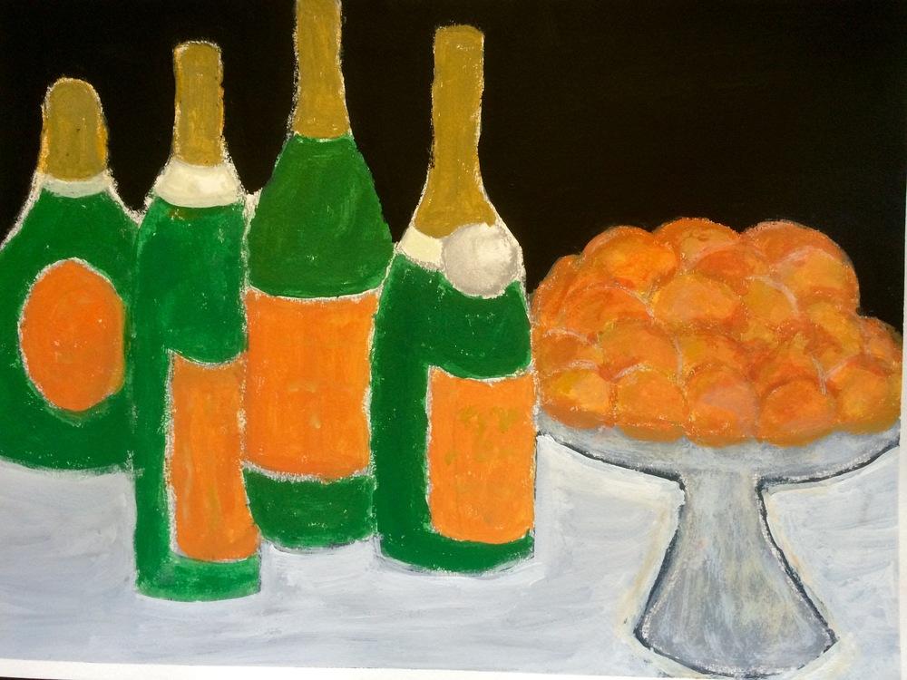"""Champagne Orange""  Acrylic 18x24"