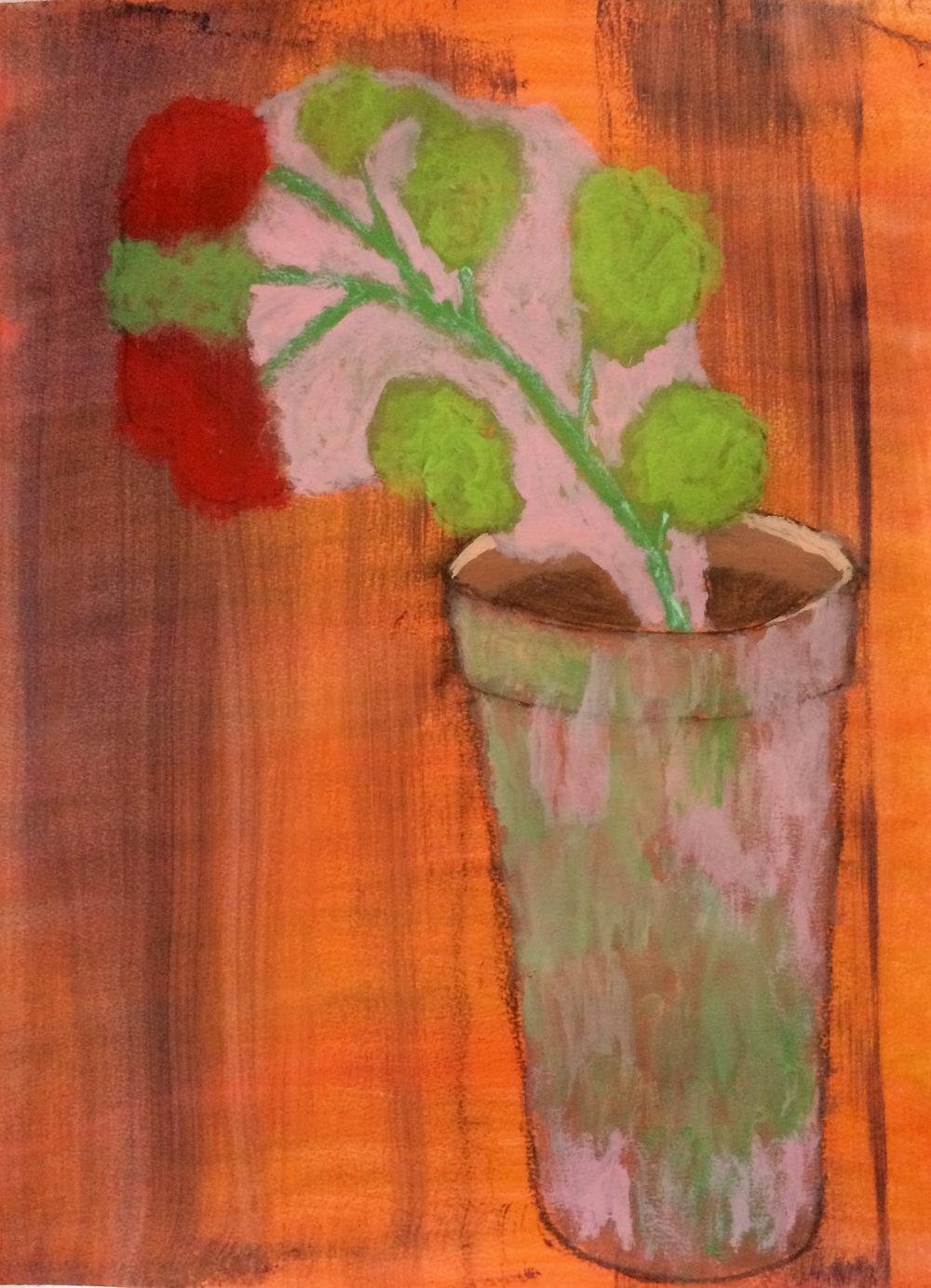 """""""Gardenia"""" Acrylic 24x18"""