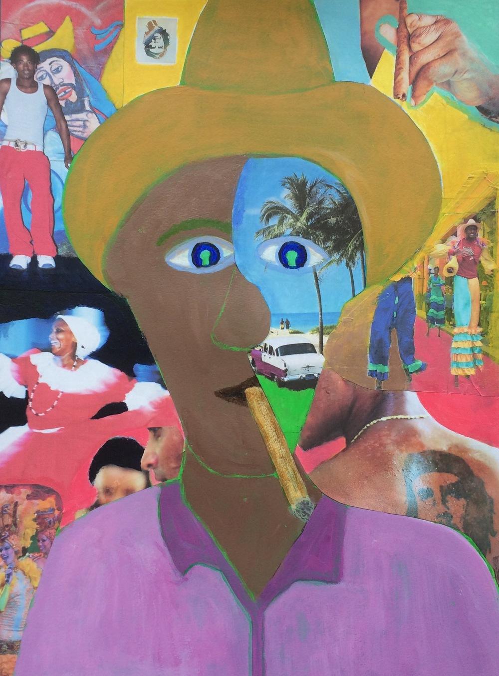 """""""Cuba"""" Mixed Media 24x18"""