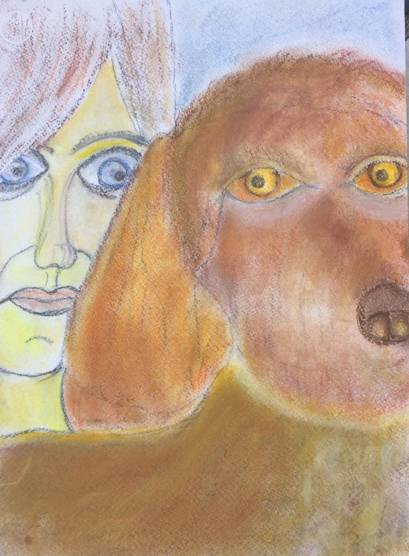 """""""I Zooey"""" Pastel & Charcoal 12x9"""