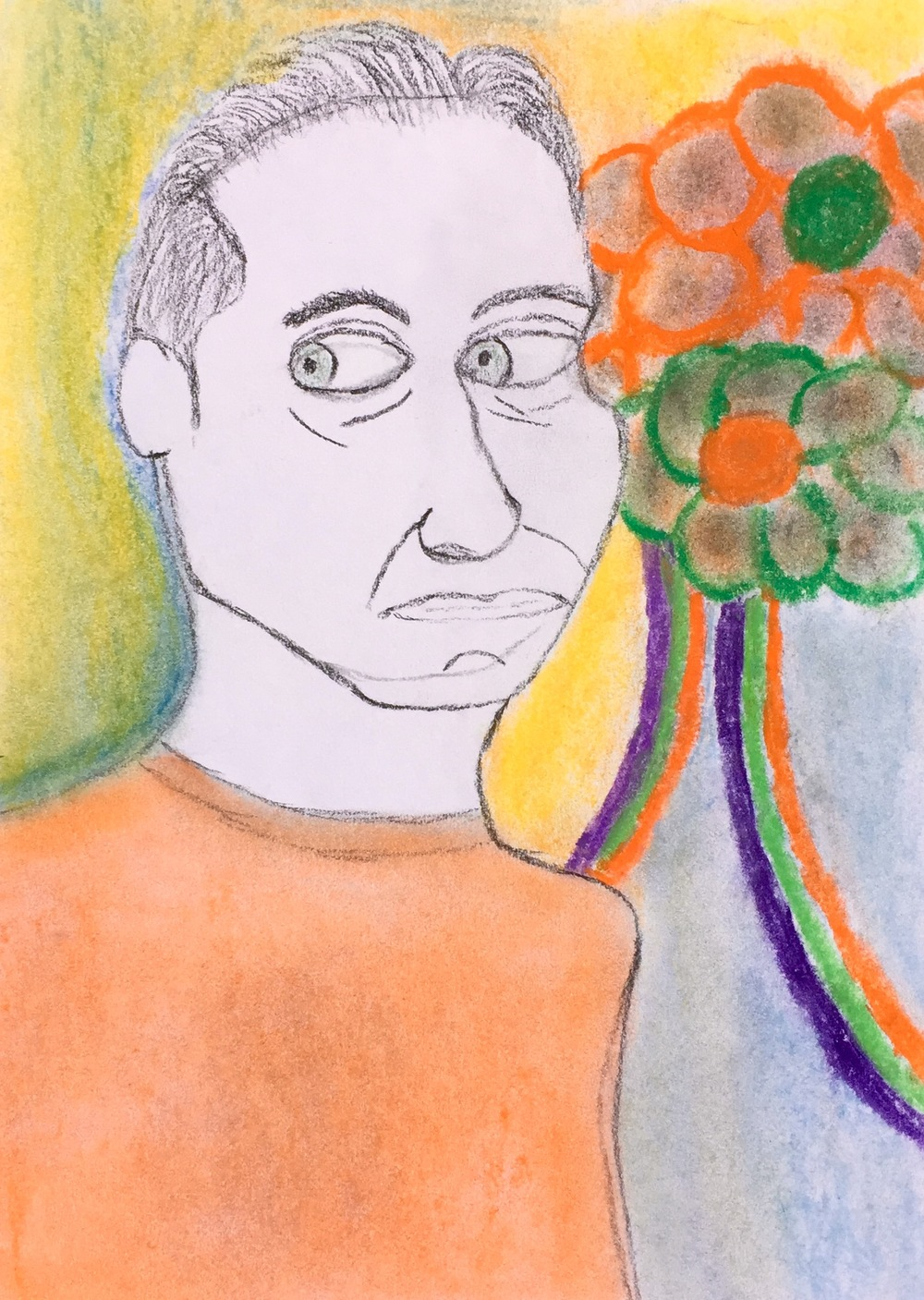 """""""Mirror"""" Pastel & Pencil    12x9"""