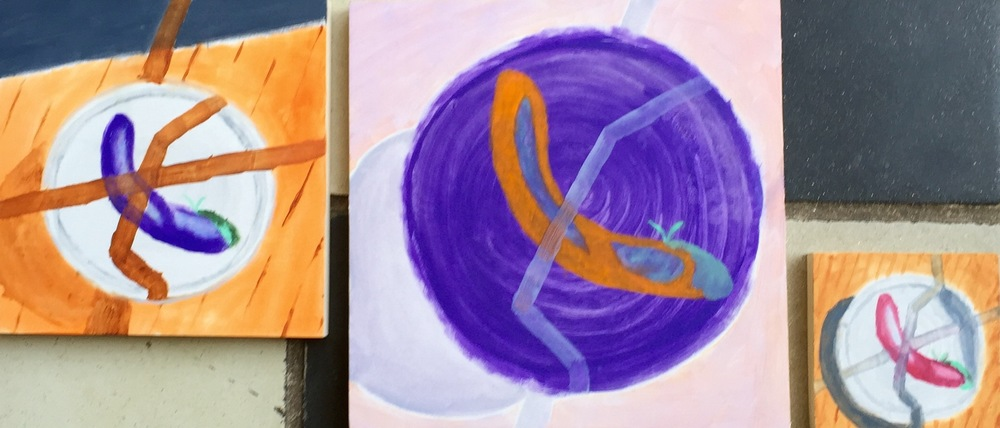 """Pepper Variations"" Oil on Wood Panels"