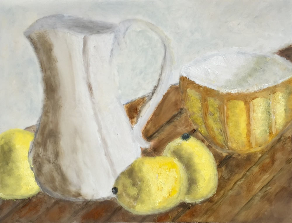 """Lemon Aid"" Oil on Mylar 9x12"