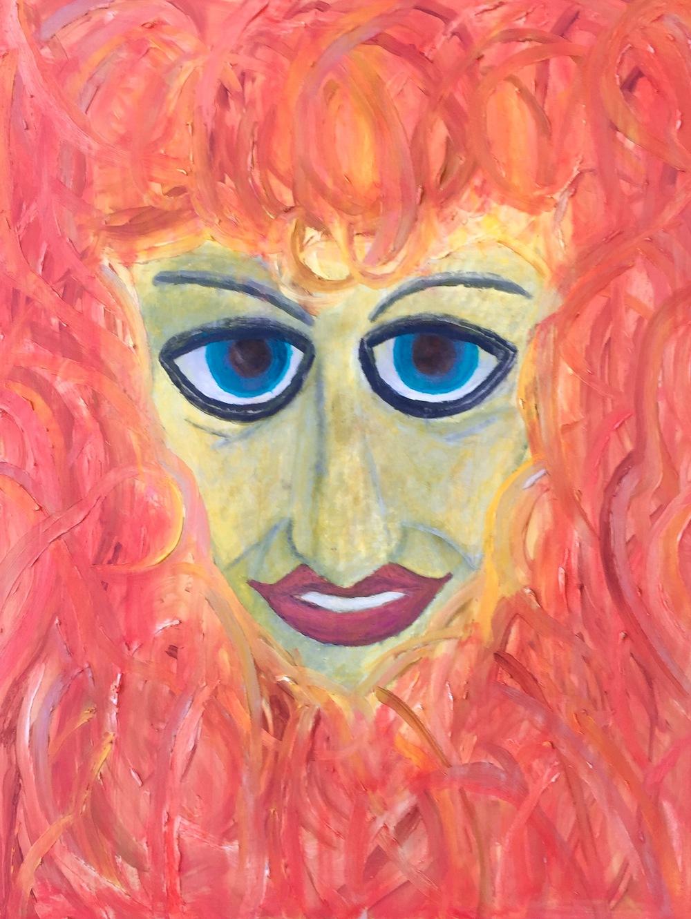 """Baby Jane"" Oil on Wood Panel 24x18"
