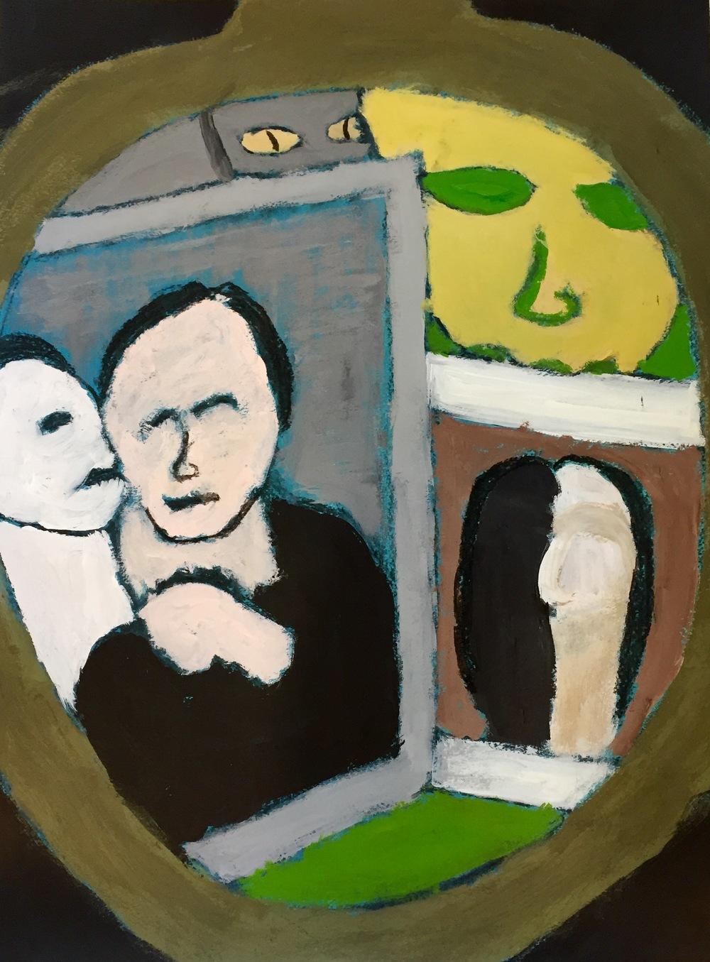 """""""Reflections"""" Acrylic 24x18"""