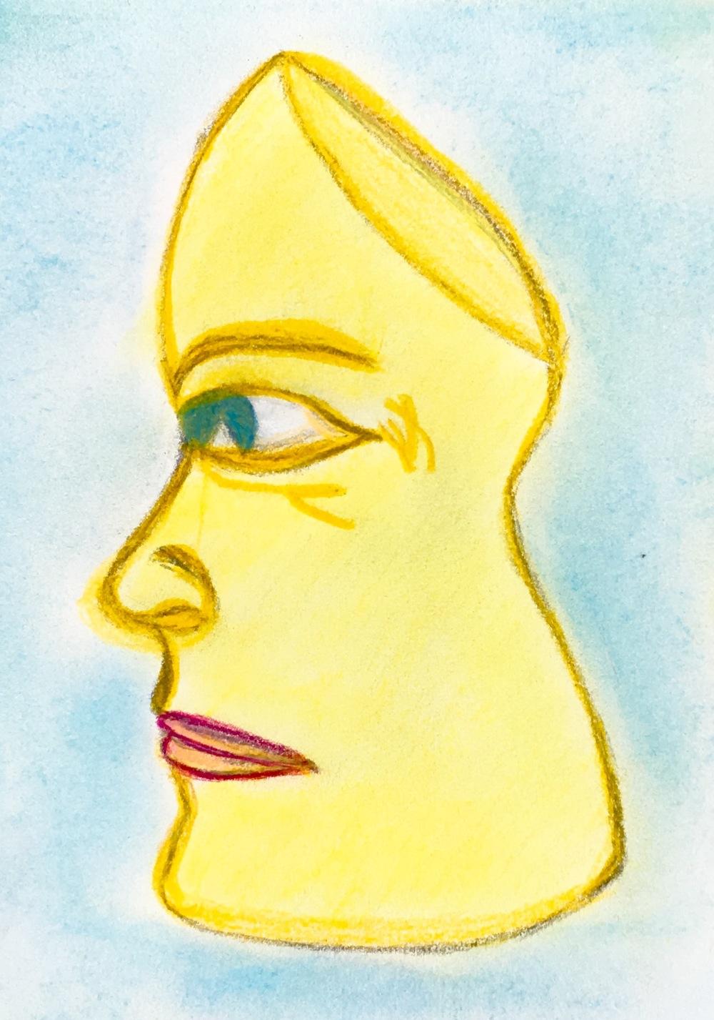 """Hidden Motive"" Pastel & Pencil"