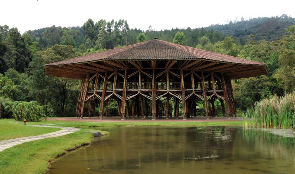 The Zeri Pavilion by Colombian architect Simon Velez. Image source: arsalive.blogpost.com