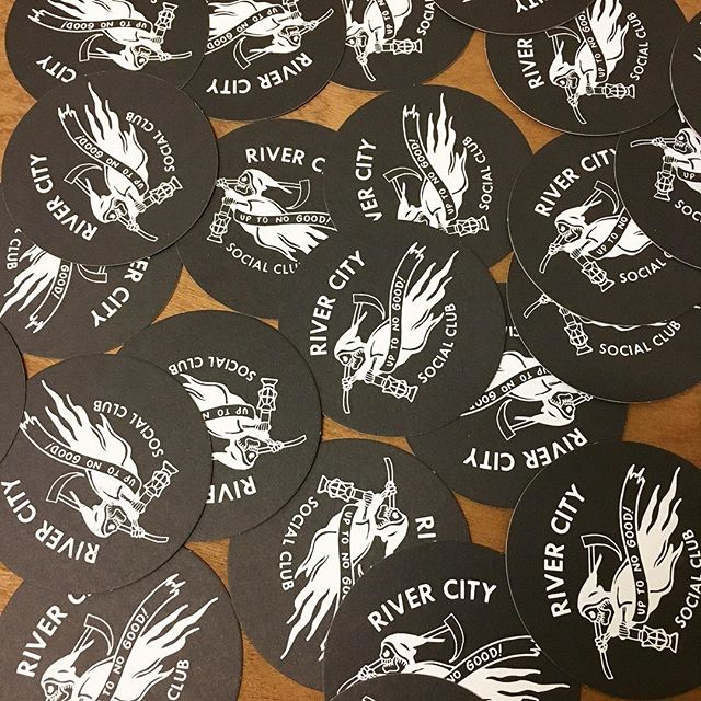 4 coasters ship with every order. Save those table tops! #rivercitysocialclubrva