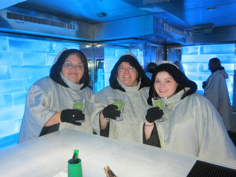 (From left: Angela, Fran, and Lucy) Aboard the Norwegian Breakaway