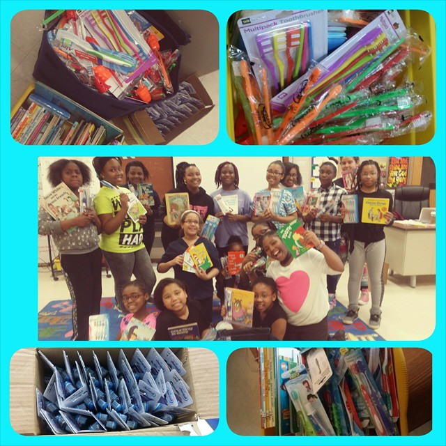 @thepearlsinc supported the @weinspiremovement by collecting over 150 toothbrushes and children's books for Mary's Center. #inpsire #giveback #mentor #support #teachthebabies #service #weinpsiremovement