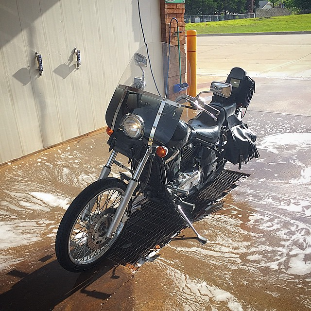 Bike_washed_and_ready_to_get_a_new_tire.__Surprisingly_the_back_rubber_only_lasted_17K_miles.___ride__Oklahoma.jpg