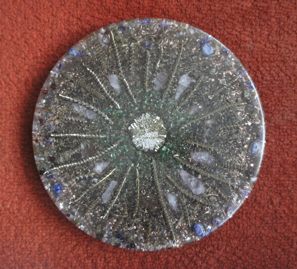 Orgonite with Pyrite and bronze
