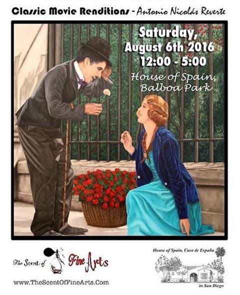 Join us!! August 6th. Classic Movie Renditions by Antonio Nicolás Reverte @ #HOSSD #balboapark