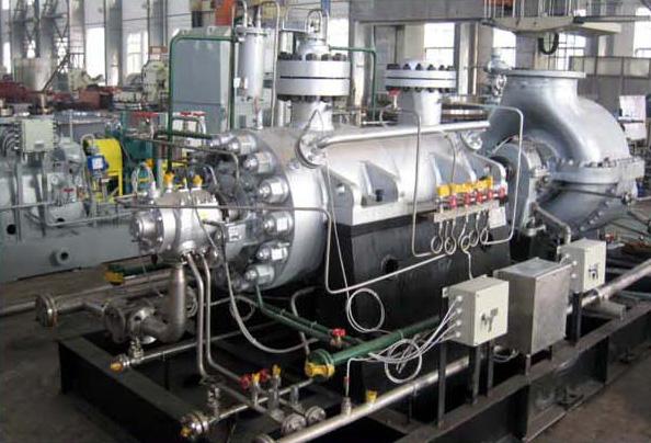 HP BFW pump driven by steam turbine