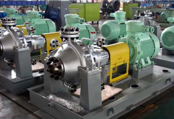 Petrochmical process pump with jacket for Caprolactam device