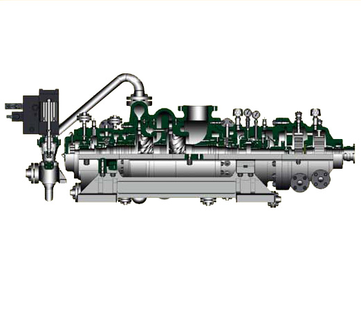 JBYQ Radial flow condensing high speed gas steam turbine
