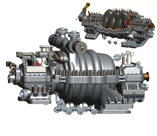 JN Radial flow condensing steam turbine