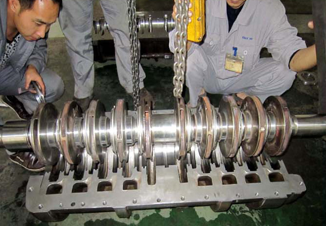 Rotor and inner casing assembly