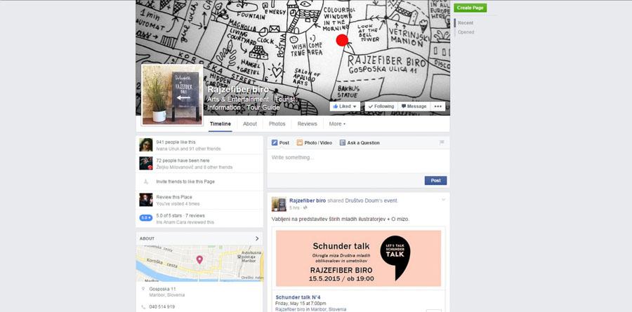 Facebook profil Rajzefiber biroja