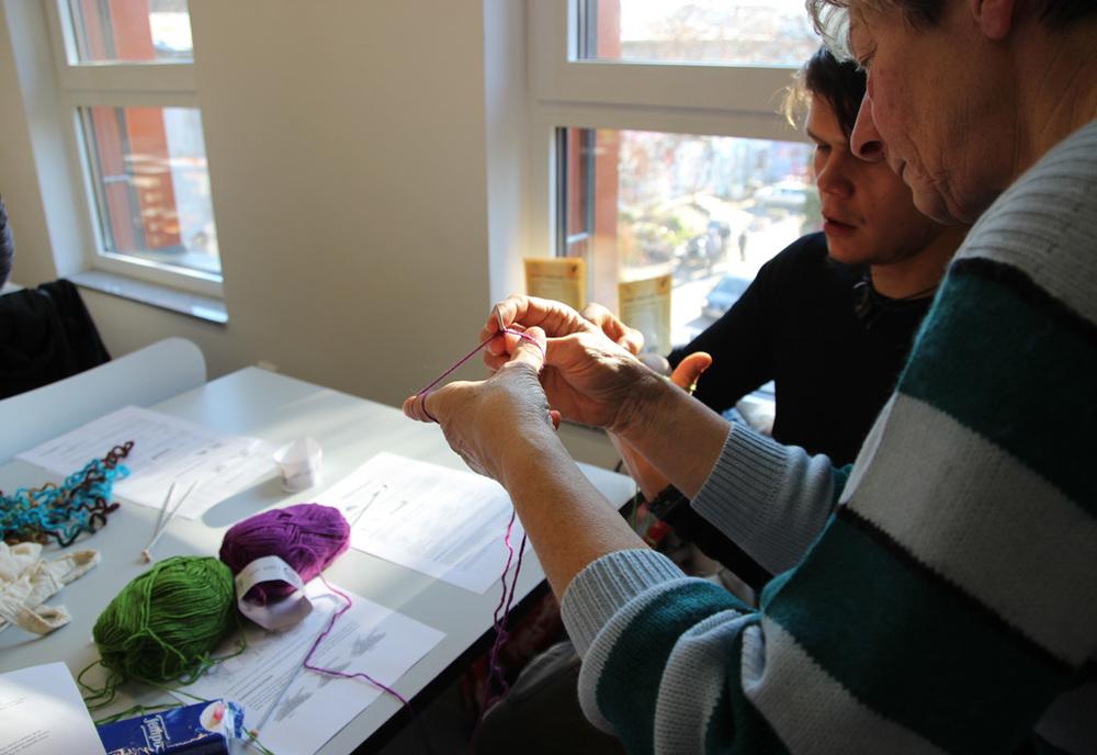 Delavnica kvačkanja in pletenja