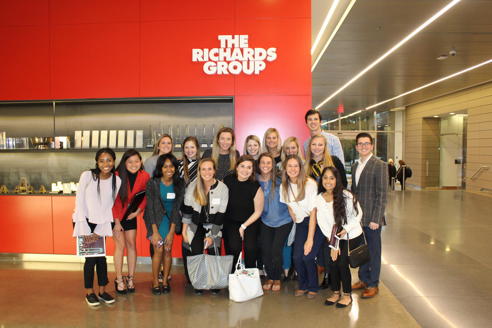 OU PRSSA members pose at The Richards Group.
