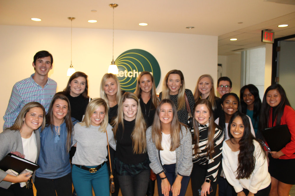 OU PRSSA Members pose at Ketchum.