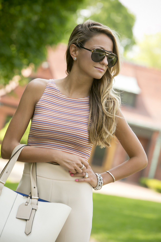 Pants&Top:  Zara  |Pumps:  Christian Louboutin  |Bag:Reed Krakoff (  similar here  )