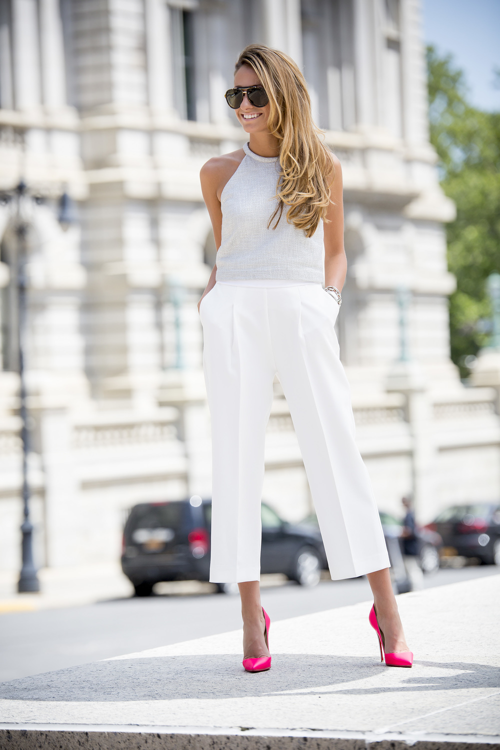 Top:A.L.C.|Culottes: Zara| Pumps: Christian Louboutin (Sold Out, Also Love This Pair)