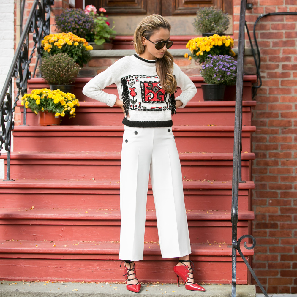 Sweater: TopShop |Pants: TopShop |Shoes:TopShop( Similar )|Bag:Mansur Gavriel (sold out)    Dino Petrocelli Photography