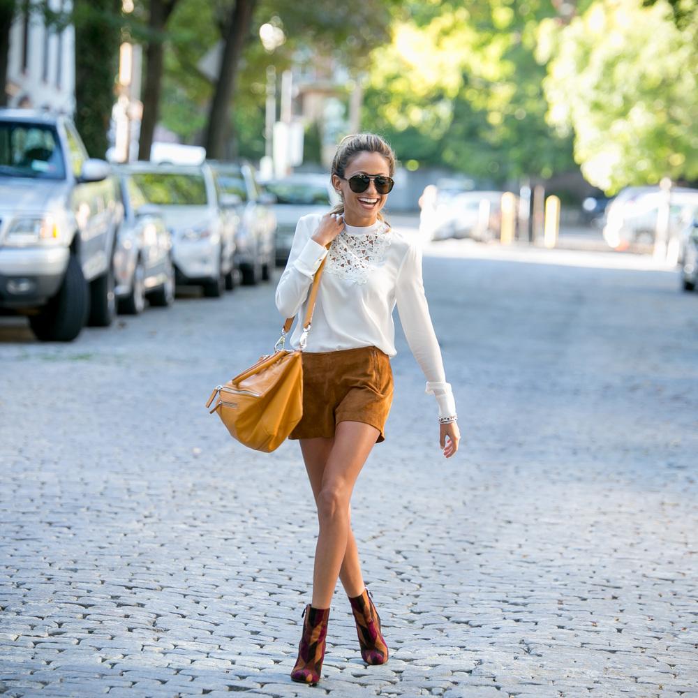 Blouse: A.L.C .|Shorts: Rag&Bone |Boots: Prada     Dino Petrocelli Photography