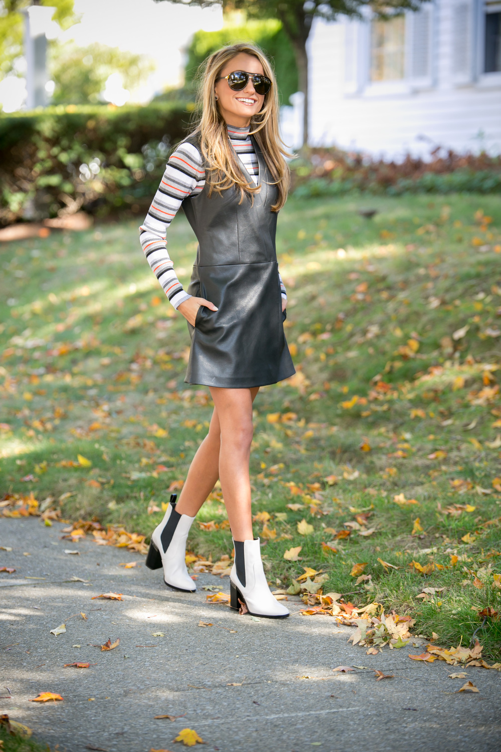 Dress: BCBG |Top: T by Alexander Wang |Booties:Reed Krakoff(older)    Dino Petrocelli Photography
