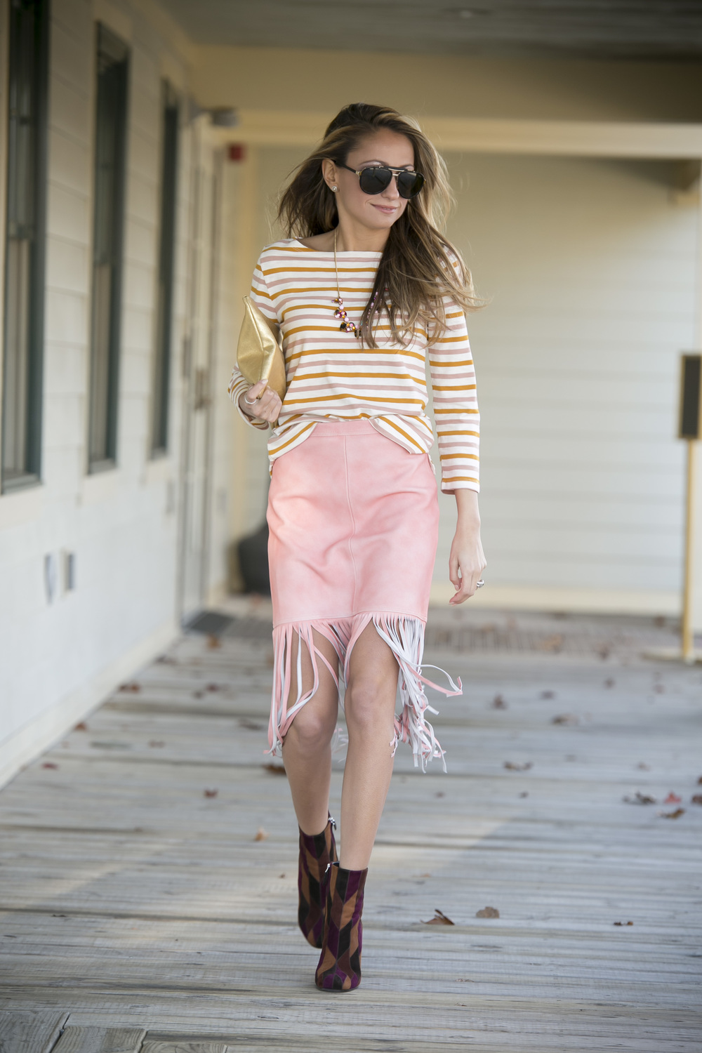 Top:J.Crew|Skirt:J.Crew|Booties:Prada|Necklace:J.Crew Dino Petrocelli Photography