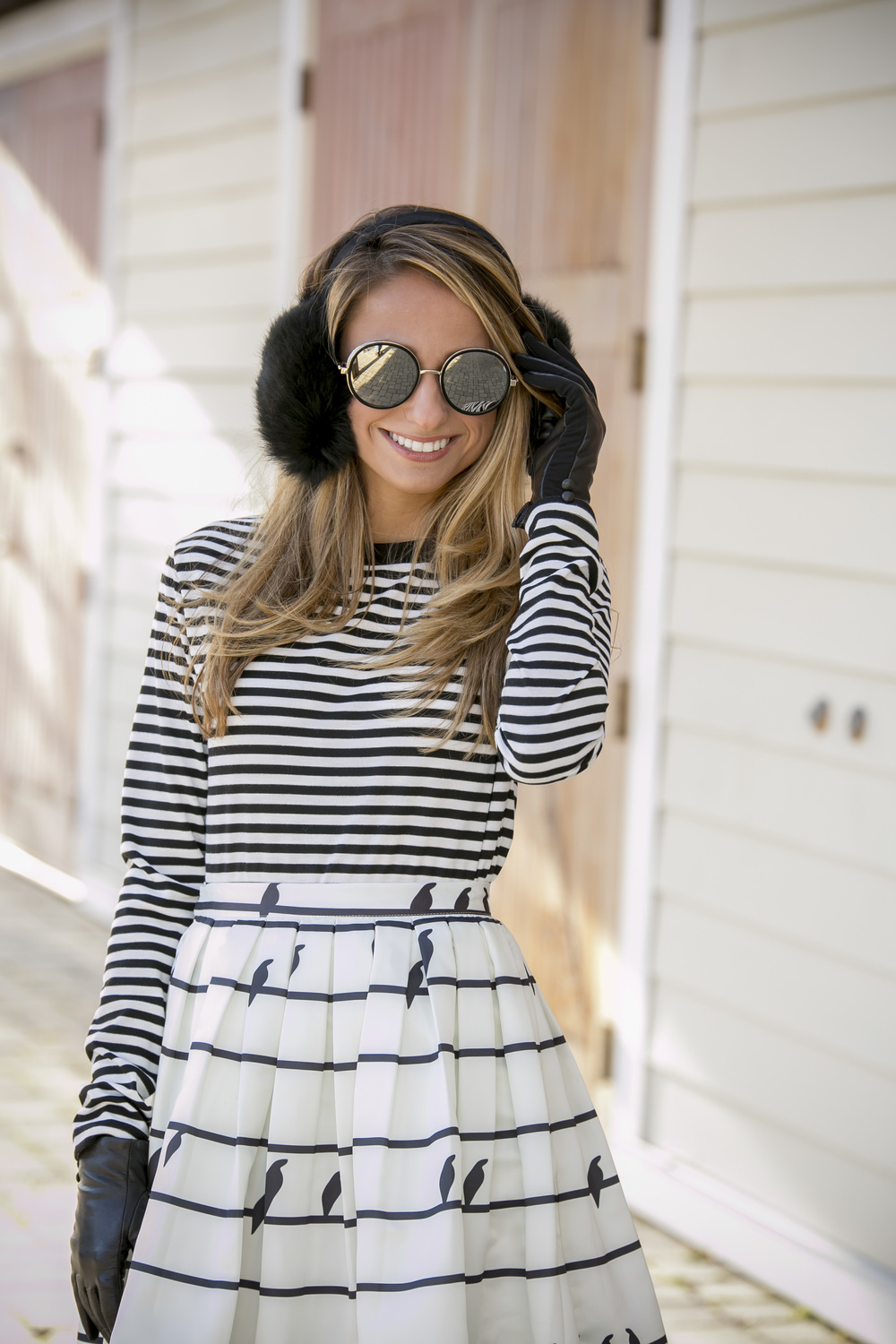 Lauren Recchia winter style wearing Topshop, Chicwish, J.Crew, and Jimmy Choo
