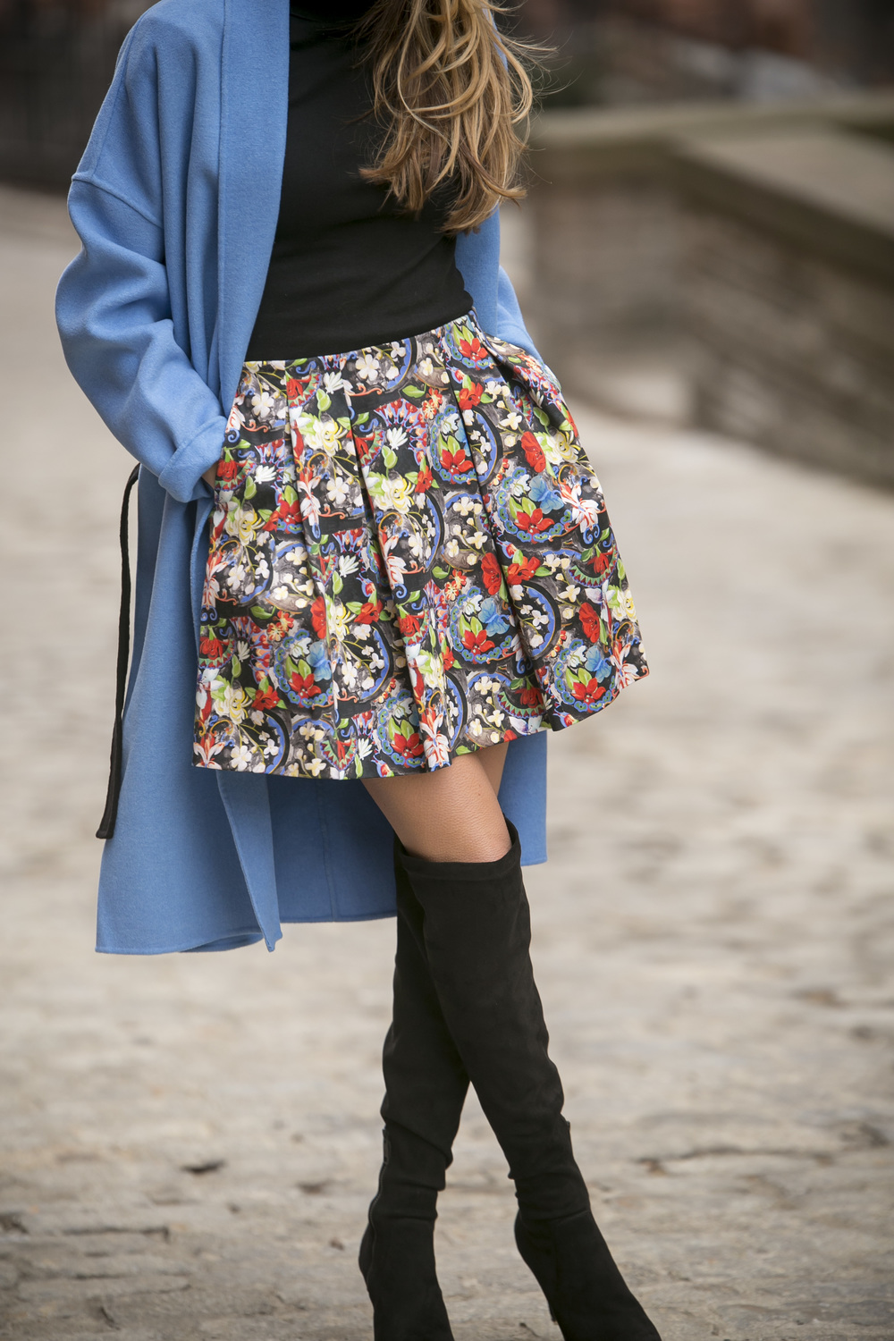 Alice and Olivia floral skirt
