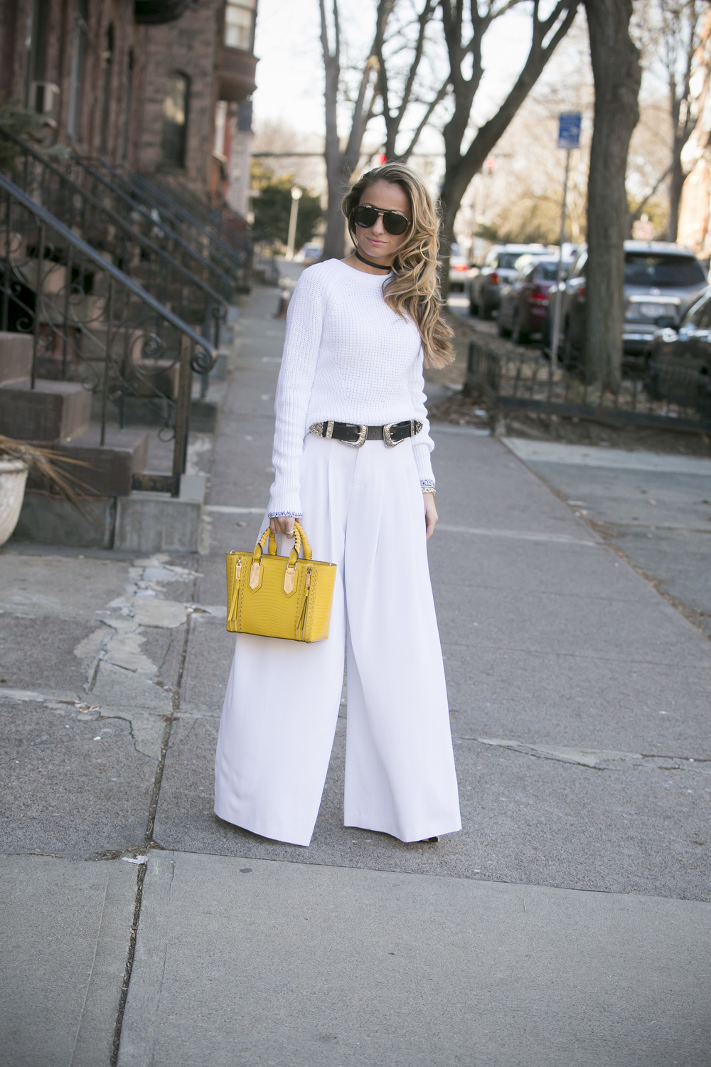 all white outfit done by Lauren Recchia for the fashion blog north of manhattan