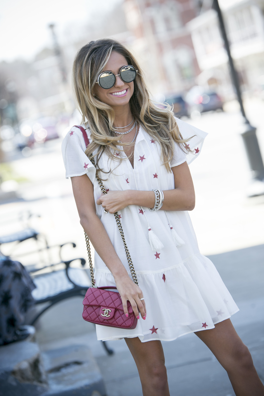 streetstyle blogger Lauren Recchia behind North of Manhattan fashion blog