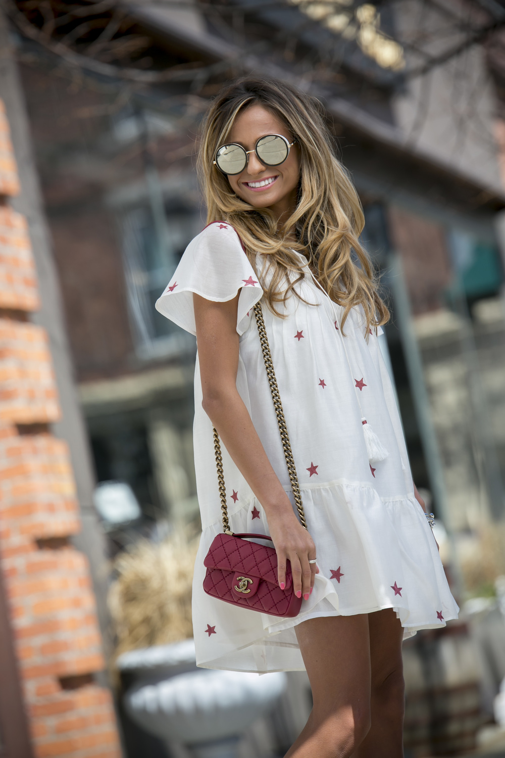 Dress: Tularosa |Booties:Saint Laurent(sold out)|Sunnies: Jimmy Choo     Dino Petrocelli Photography